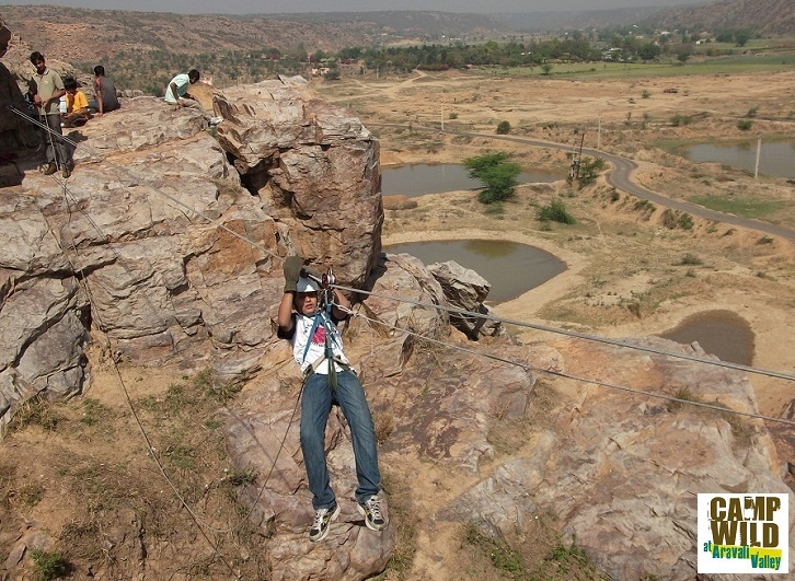 One Day full of adventure activities Camp Wild Dhauj in Aravali Valley